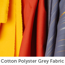 Cotton-polyster-grey-fabric